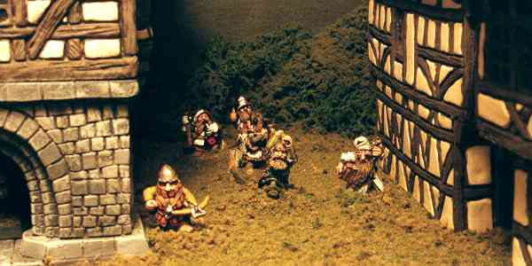 Dwarfs in Village