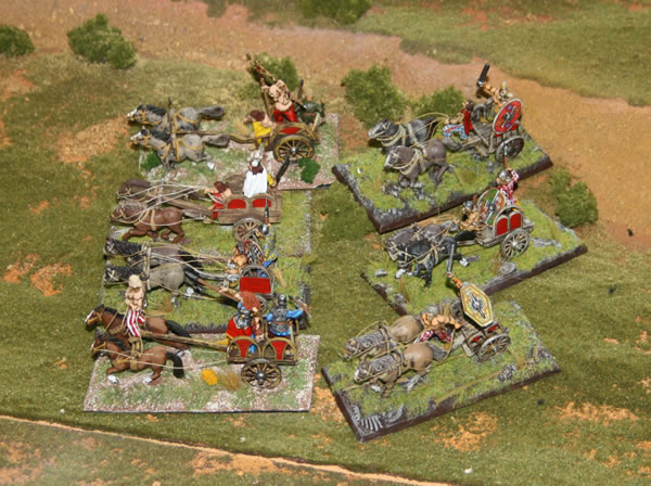 Photographs taken at shows of various historical wargames from various historical periods.