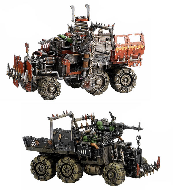Ork Red Paint Job Rules
