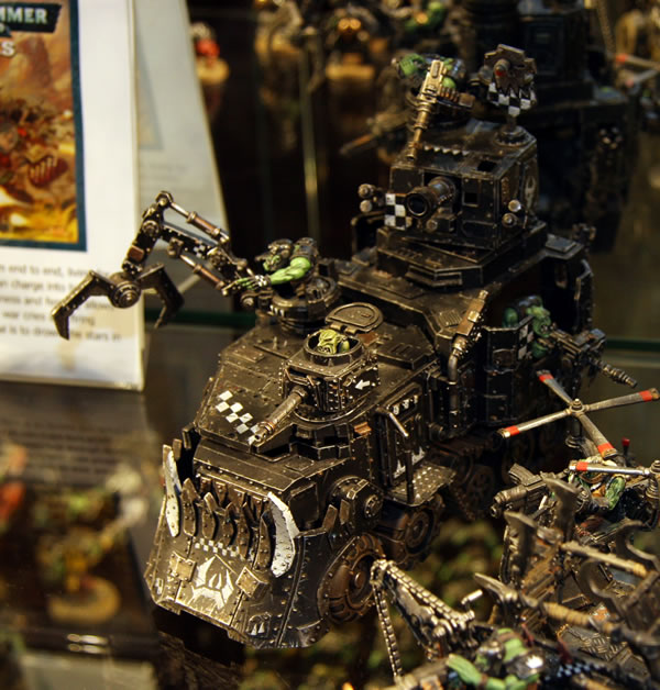 Ork Battlewagon from display at Warhammer World.