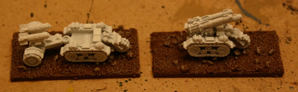 Here are a couple of the Ork Airfield Defence Force airfield vehicles.