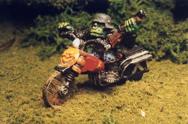 This is Sleazy Rider the original Orc biker (at that time there were no Orks just Orcs).