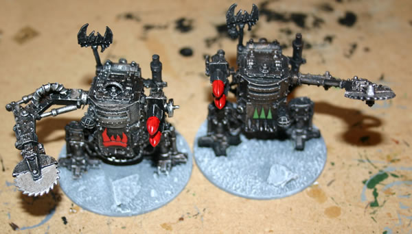 Though I have played a few games with my Killa Kans I have taken them back into the paintshop and added some more details.