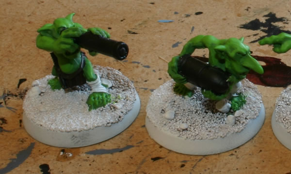 This is a closeup of two of the Grots.