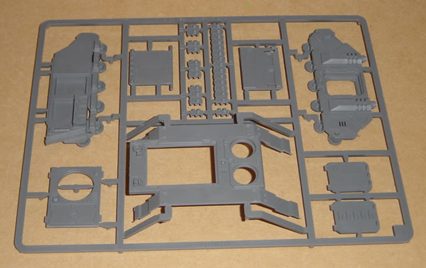 The standard Rhino kit includes three sprues.