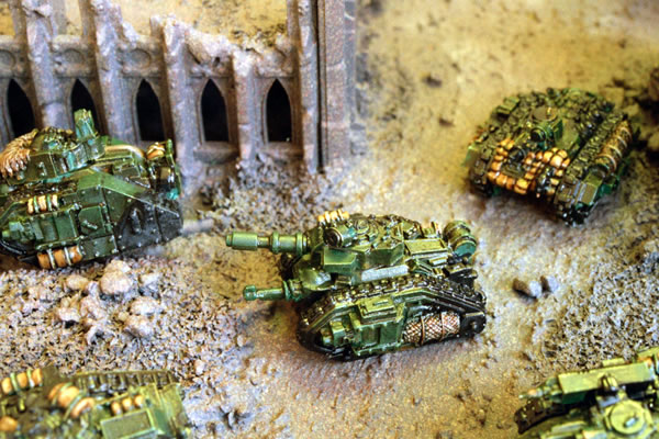 Imperial Guard Armoured Vehicles on the move.