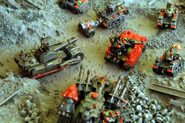 Ork forces on the move