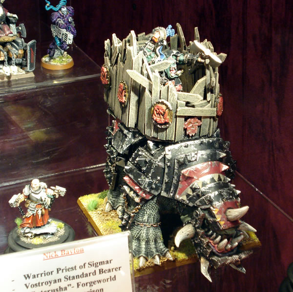 Orc Boar Boyz - from a display cabinet in Warhammer World