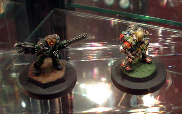 "Chainsaw Warrior and the ""original"" Space Marine in Power Armour."