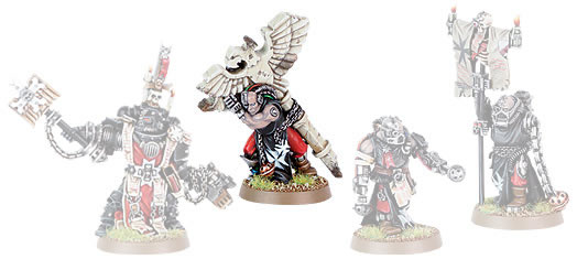 Black Templars Chaplain Grimaldus and Retinue Boxed Set.