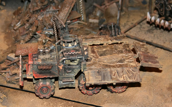 Forge World Ork Trukk with enclosed cab.