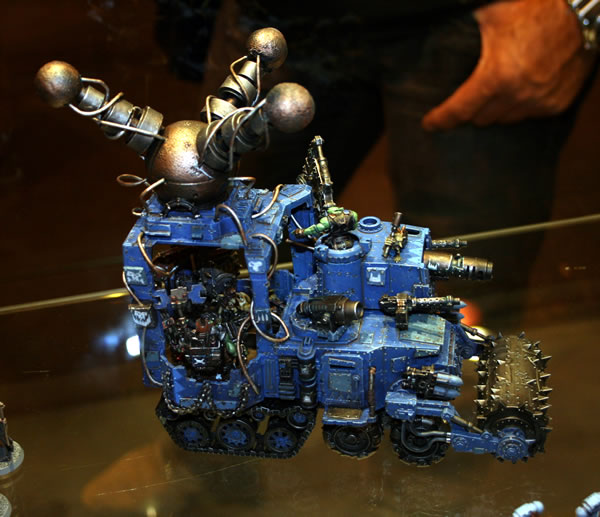 Ork Mek Battlewagon from displays at GamesDay 2009.