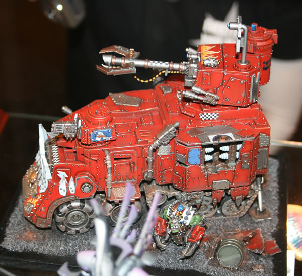 Bright Red Battlewagon from Golden Demon at GamesDay 2009.