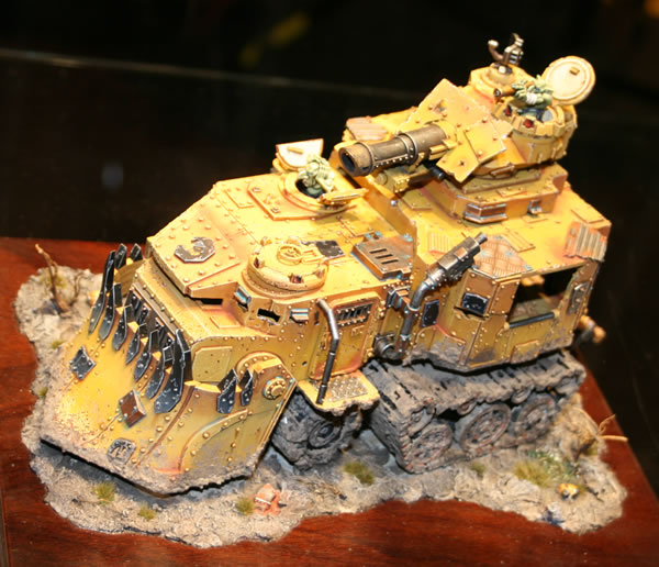 Bright Yellow Battlewagon from Golden Demon at GamesDay 2009.