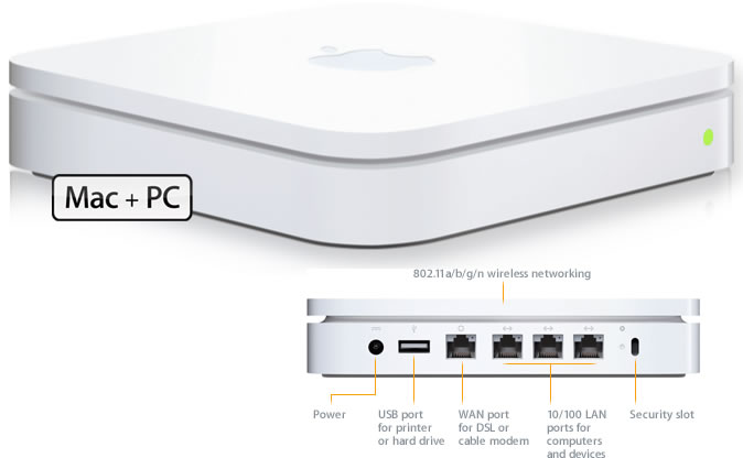 apple airport extreme base station setup Advantages: Big enough