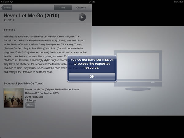 itunes you do not have permission new iphone