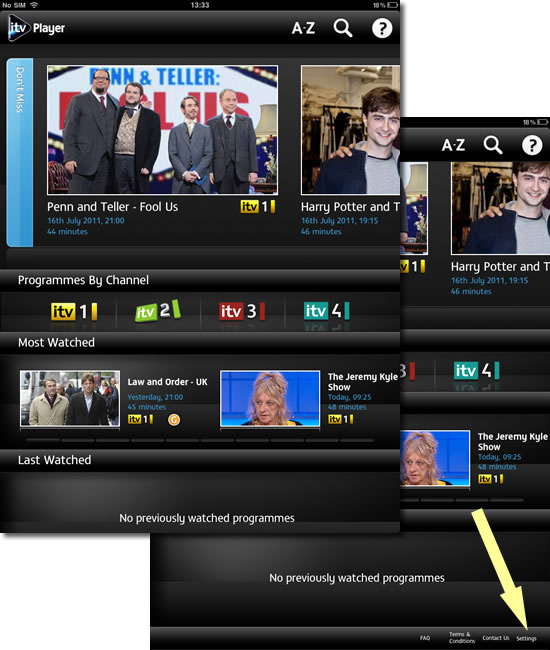 I have the ITV Player App, why is it that I can't get ITV1, but can